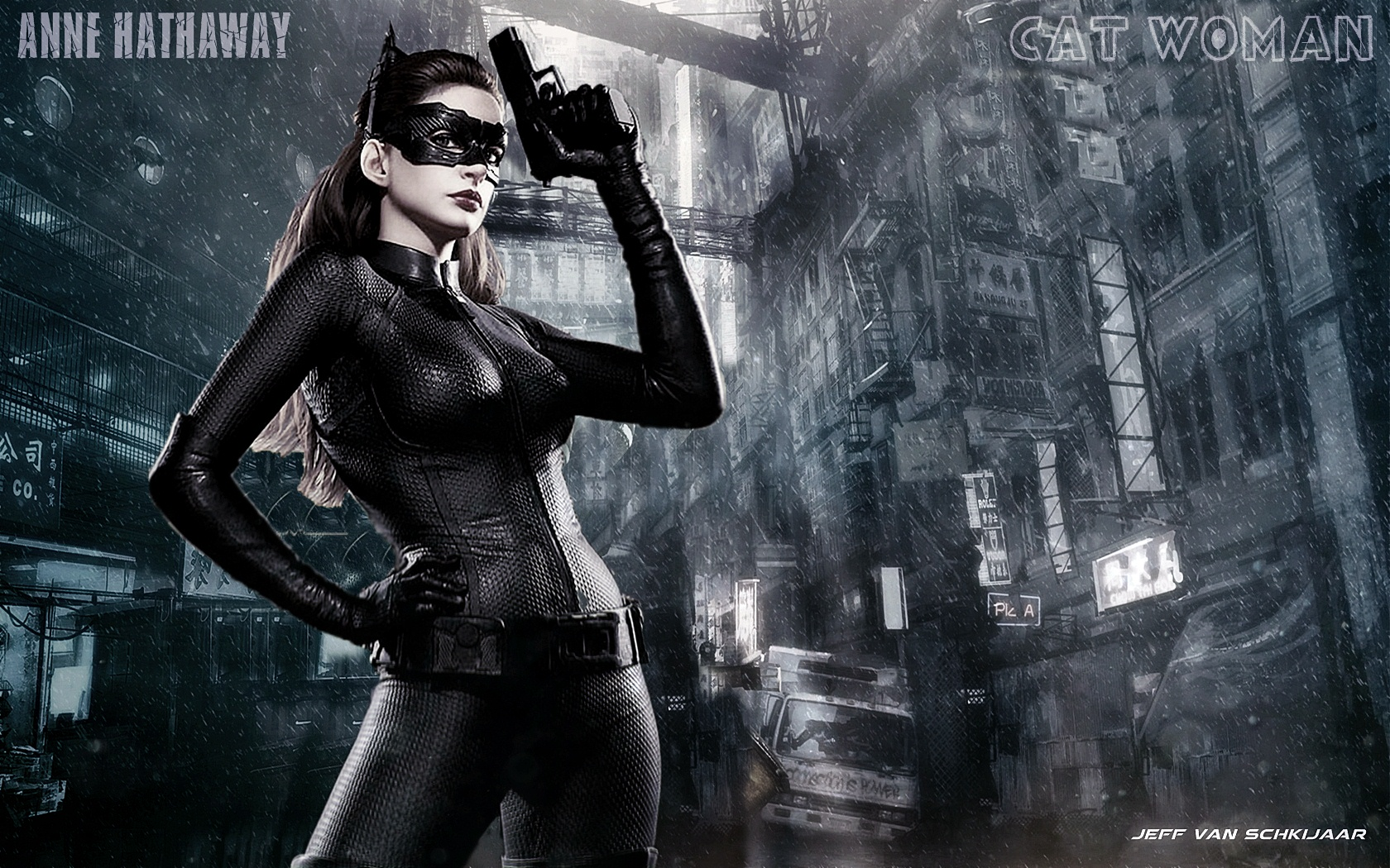 Anne Hathaway - Catwoman Wallpaper - 7