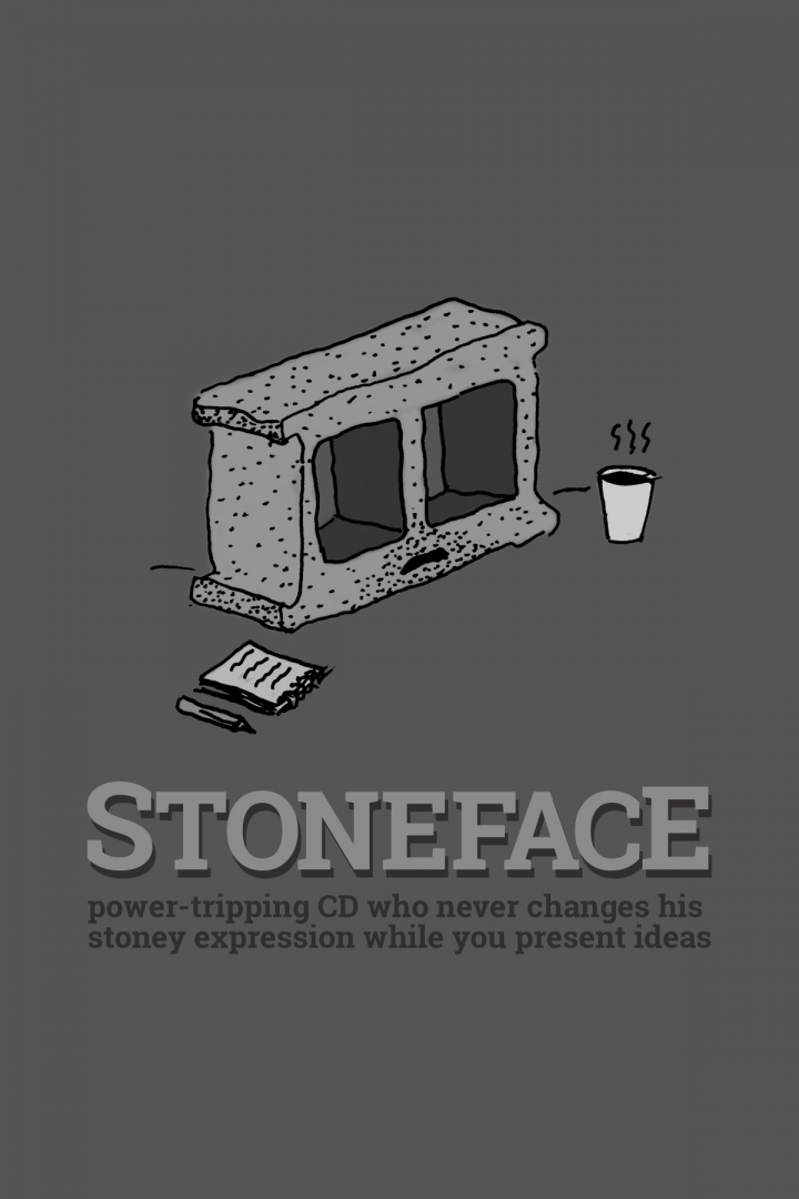 Workwankers - Types of people in every ad agency: Stone Face