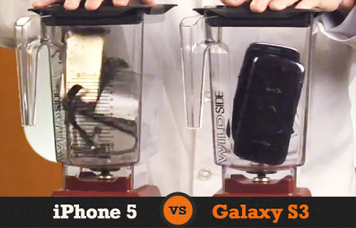 Crazy CEO Destroys iPhone 5 And Galaxy S3 In Blender Lab Test