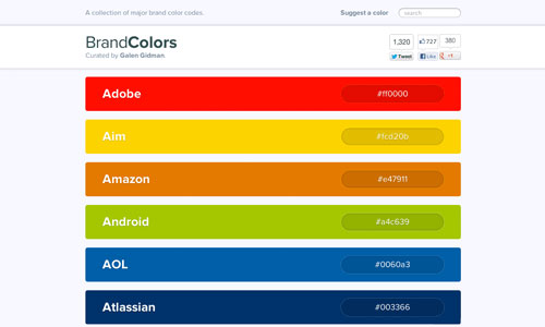 A Super-Handy Collection Of Major Brand Color Codes