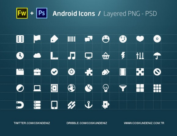 Androids icons