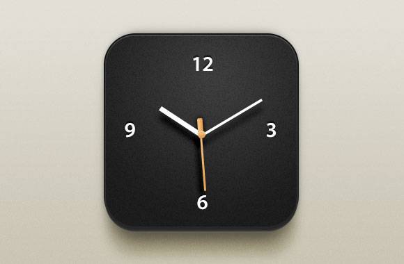 Beautiful clock iOS icon