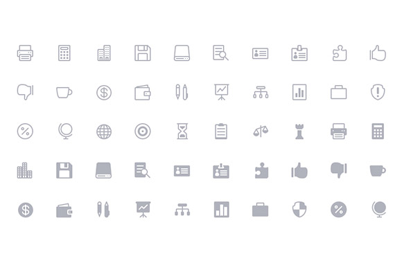 The Elegant Icon Font – 360 free icons