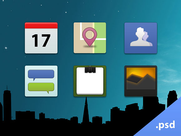 Facebook-style icons