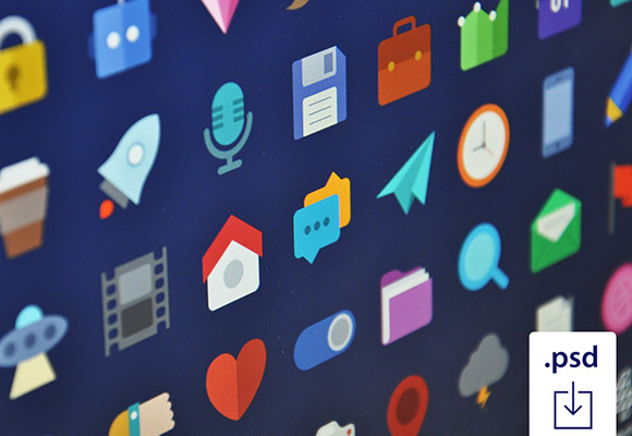 47 coloured flat icons