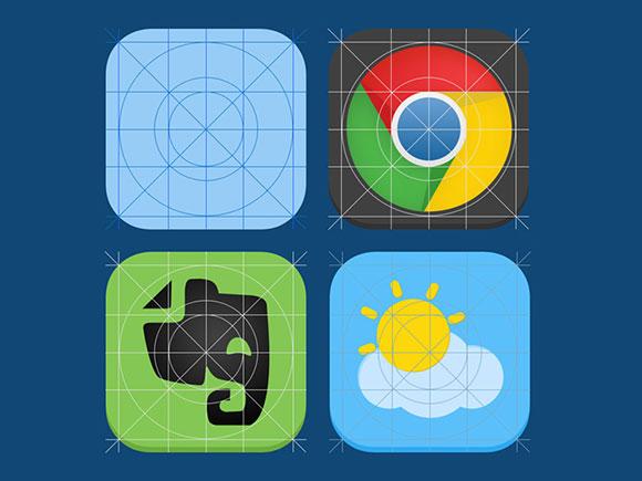 iOS7 icon guides