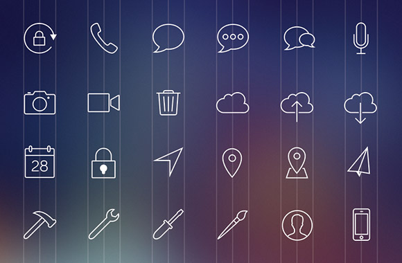 80 iOS7-style line icons