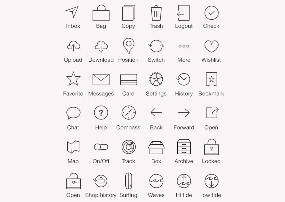 36 iOS7 tab bar icons