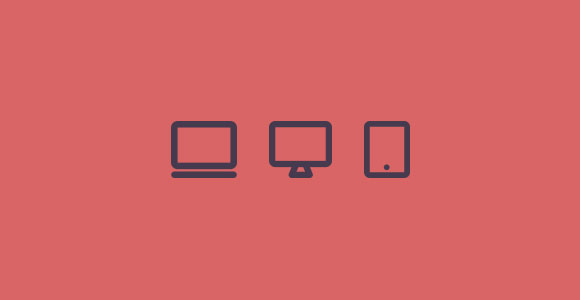 Monitor devices flat icons