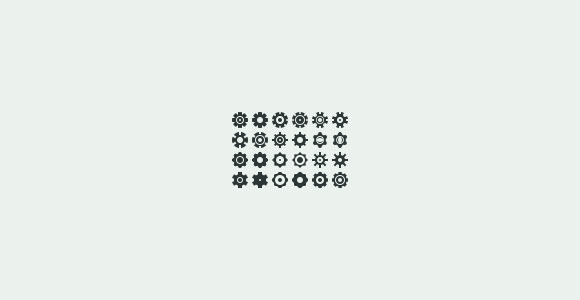 24 settings wheel icons