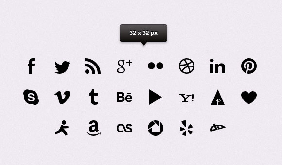 Simple clean social icons