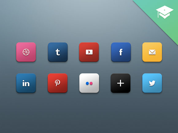 Harkable social media icons