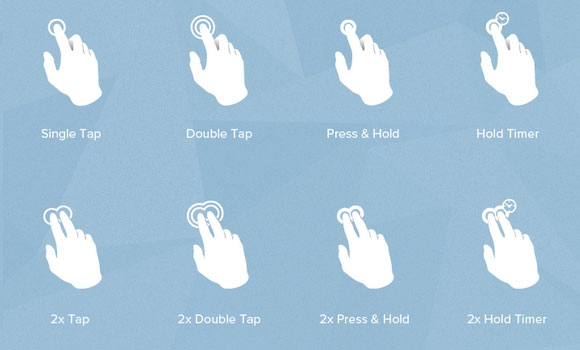 Touch gesture finger icons