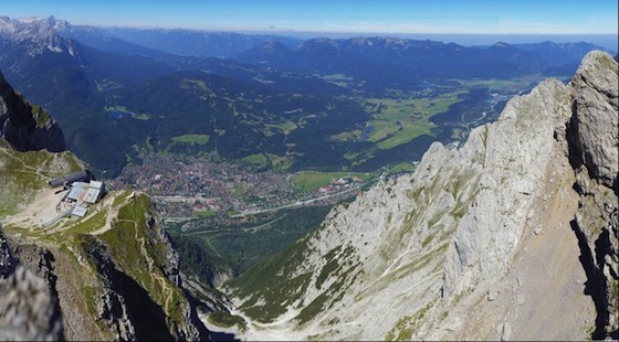 Mittenwald view from Karwendelspitze by gigapanbot (10.76 Gigapixels)
