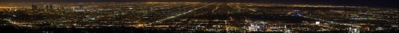 Los Angeles at Night via Mt. Lee by Mac Danzig (0.11 Gigapixels)