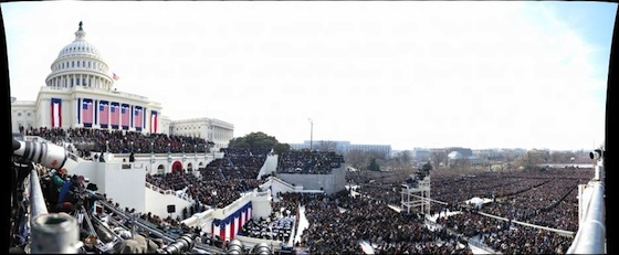President Barack Obama's Inaugural Address by David Bergman (1.47 Gigapixels)