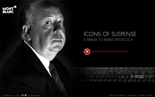 Montblanc's Swanky Website Pays Digital Tribute To Alfred Hitchcock