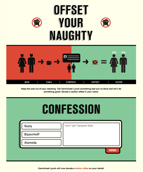 Offset Your Naughty – Website Donates A Carbon Offset For Every Confession You Make