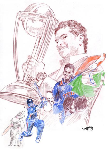 Sachin Tendulkar Fan Art # 7