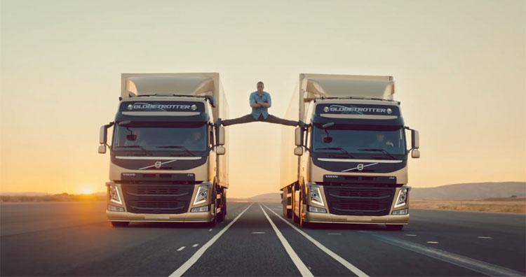 Jean-Claude Van Damme's Epic Split For Volvo Goes Super Viral Online