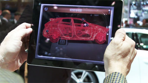 Volvo X-RAY App Lets You See Technology Beneath Car Surface