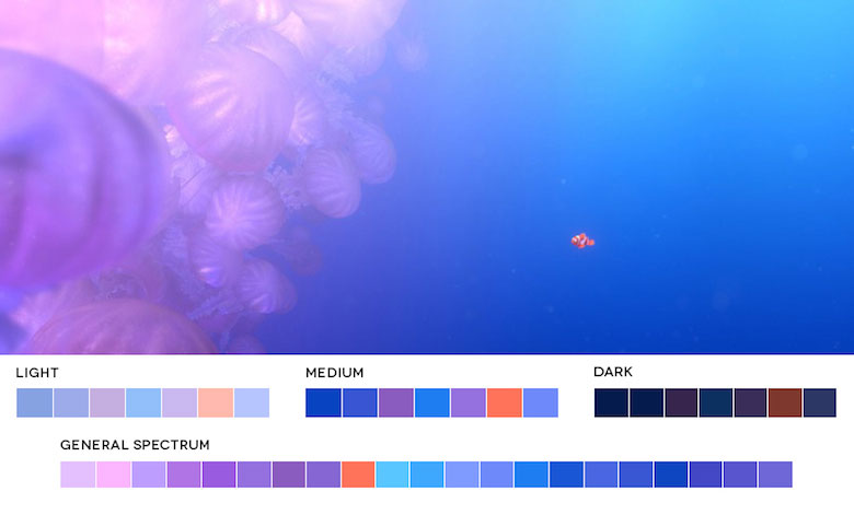Finding Nemo – Color Palette