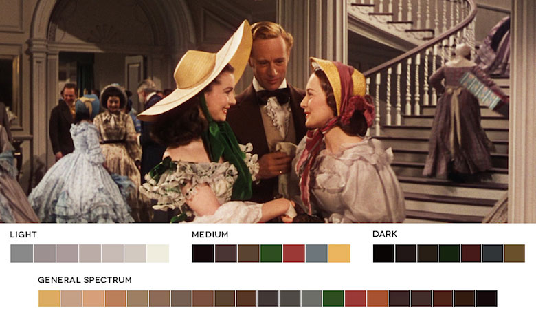 Gone With The Wind – Color Palette
