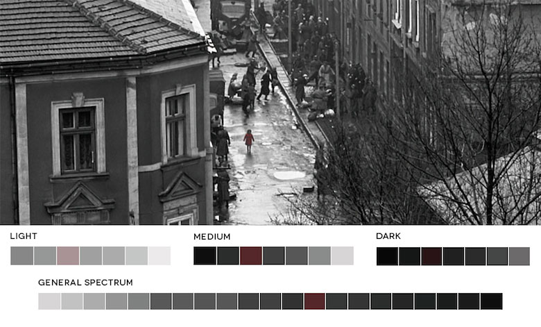 Schindler's List – Color Palette