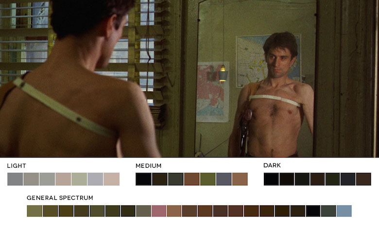 Taxi Driver – Color Palette