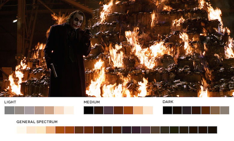 The Dark Knight – Color Palette