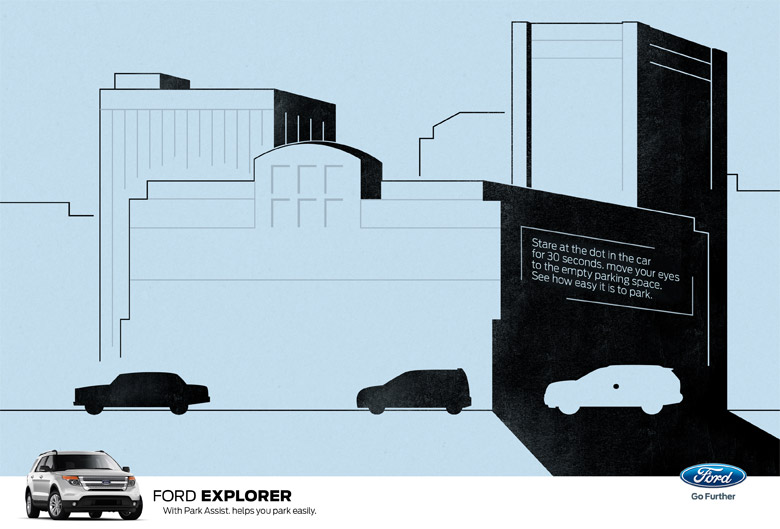 Ford Explorer - 'Park Assist' Optical Illusion