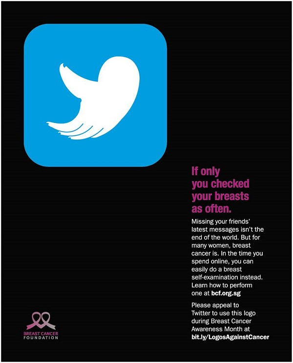 Breast Cancer Foundation - If Only You Checked Your Breasts As Often - Twitter Logo