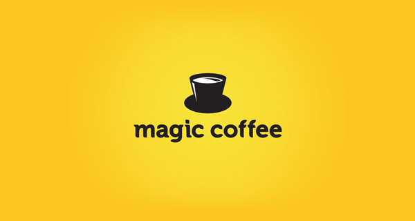 Creative Logo Design Inspiration With Hidden Meanings - Magic Coffee