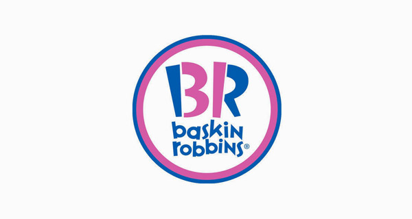 Creative Logo Design Inspiration With Hidden Meanings - Baskin Robbins