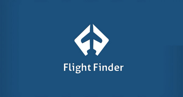 Creative Logo Design Inspiration With Hidden Meanings - Flight Finder