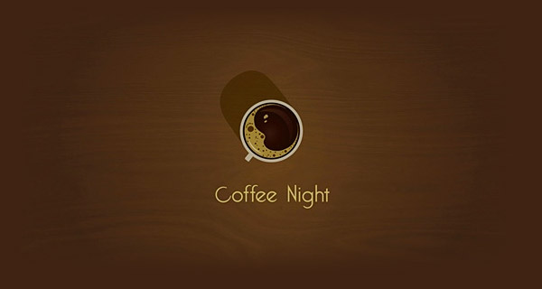 Creative Logo Design Inspiration With Hidden Meanings - Coffee Night