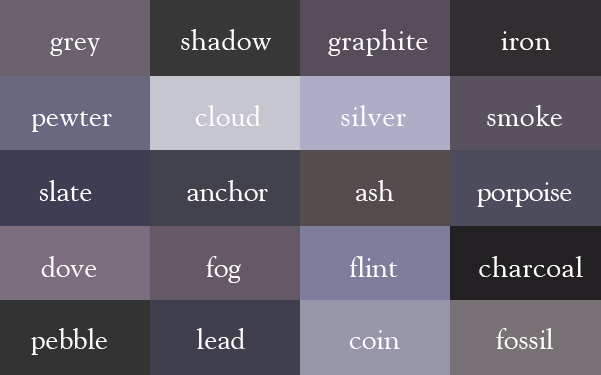 Colors Of Gray Amusing Of Shades of Gray Colornames Images