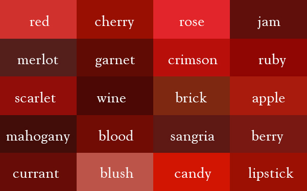 It S Quot Wine Quot Not Dark Red Here Are The Correct Names Of
