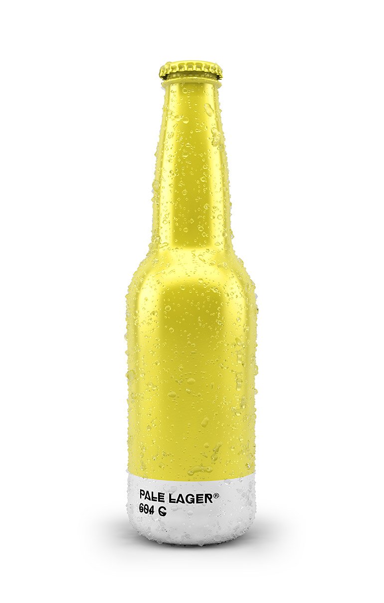 Pantone Color Beer Bottle - Pale Lager