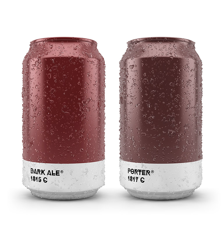 Pantone Color Beer Can - Dark Ale & Porter
