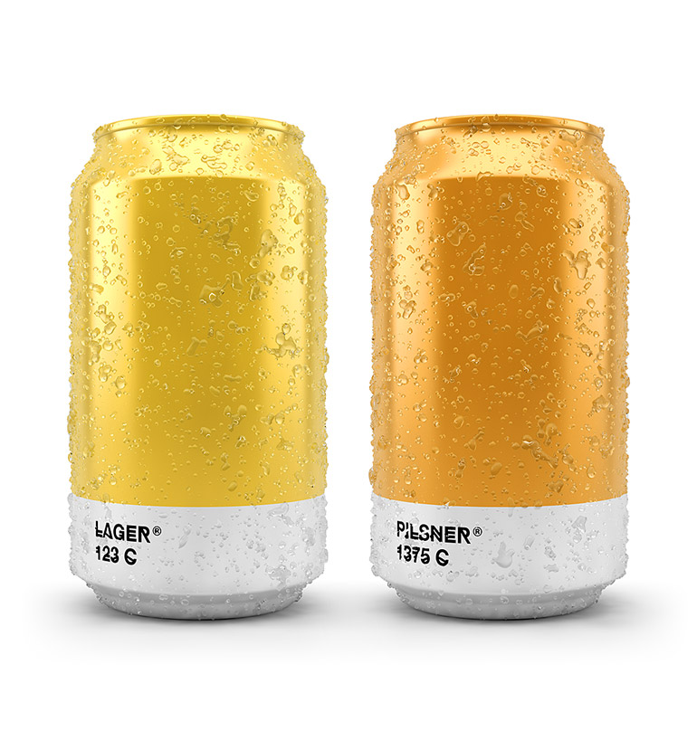 Pantone Color Beer Can - Lager & Pilsner
