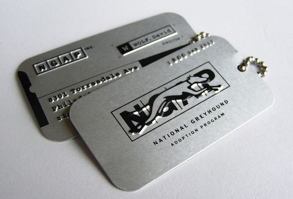 ngap u2013 dog tag business card