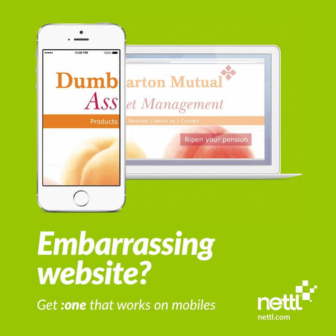 Mobile friendly web design by Nettl - 1