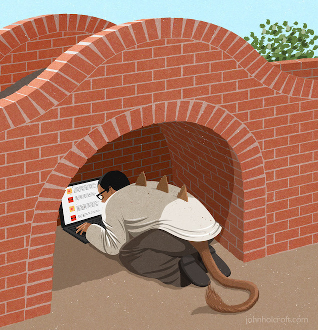 Retro Style Thought Provoking Illustrations by John Holcroft - 25