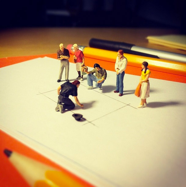 Life In An Agency, Miniature Figure Photographs - 15