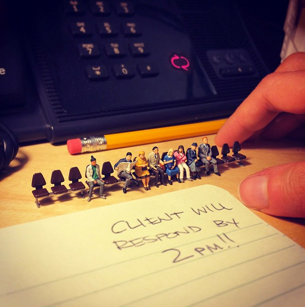 Life In An Agency, Miniature Figure Photographs - 9