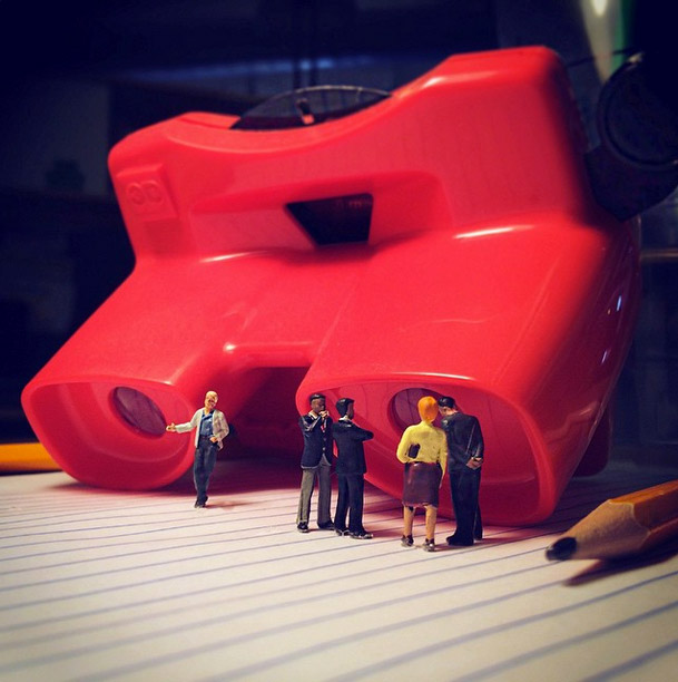 Life In An Agency, Miniature Figure Photographs - 8
