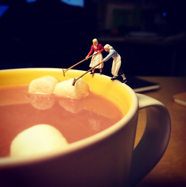 Life In An Agency, Miniature Figure Photographs - 10