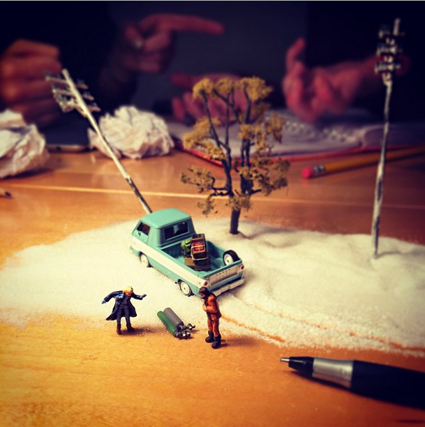 Life In An Agency, Miniature Figure Photographs - 7