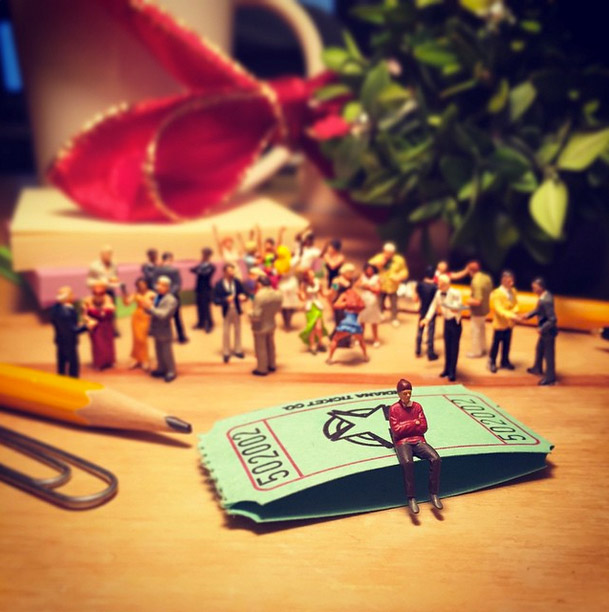 Life In An Agency, Miniature Figure Photographs - 18